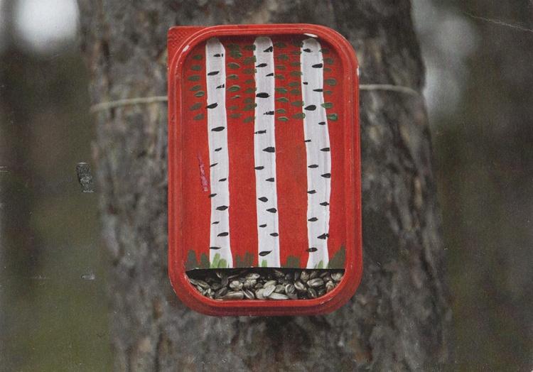 Кормушки для птиц из коробок своими руками- как сделать из коробки для обуви, молока, сока